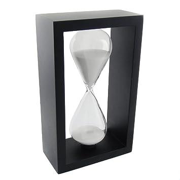 Sanduhr schwarz weiß  Amazon.de: ColorMax Holzrahmen 60 Minuten Stundenglas Sanduhr ...