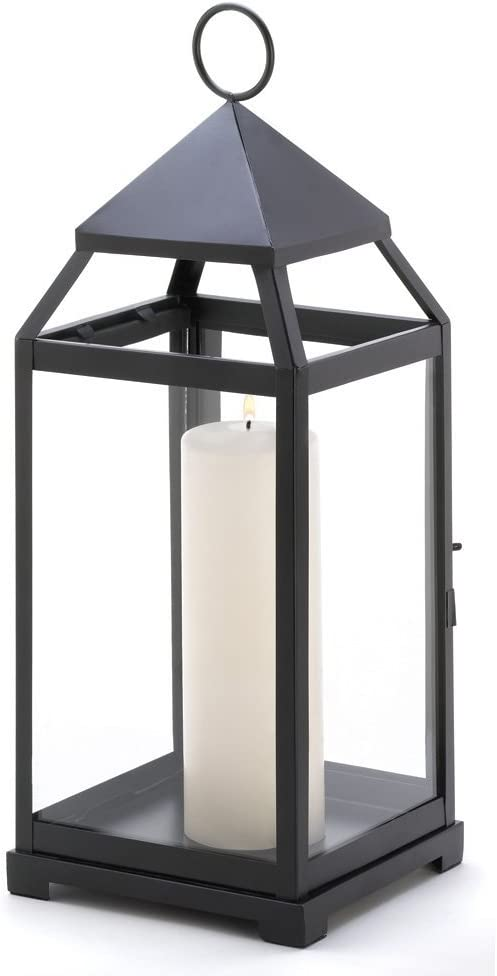 Black Candle Lantern Contemporary Decor Outdoor Lanterns For Candles Large Amazon Co Uk Kitchen Home