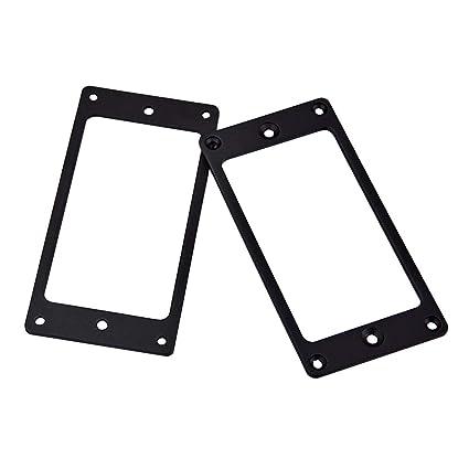 SUPVOX El marco inferior curvado del anillo recogedor de metal Humbucker de 2 piezas se adapta
