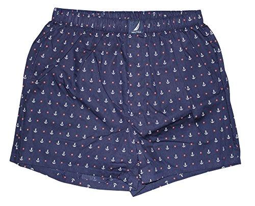 Dot Boxer Shorts (Nautica Men's Woven Boxer, Anchor/Dots/Peacoat, Medium)