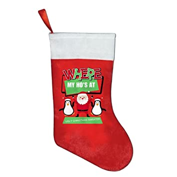 ugly christmas sweater christmas santa personalised white christmas stockings to hang cute holiday stockings natural christmas - Ugly Christmas Decorations