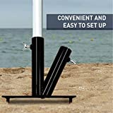 EasyGO Products Umbrella Stand Sports Dual Umbrella Holder - Fishing Pole Stand - Beach Umbrella Stake, Black