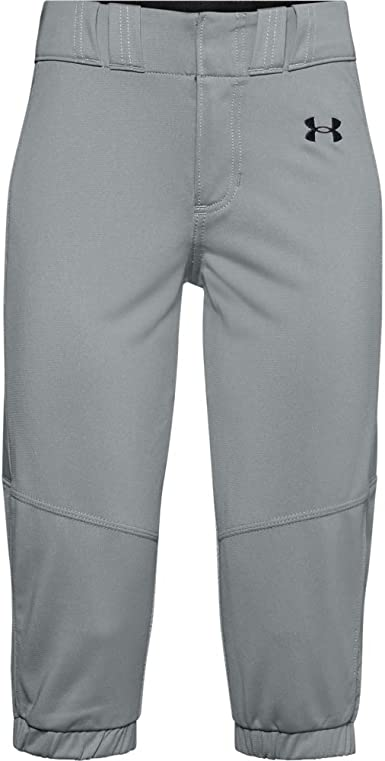 001 Under Armour Girls Softball Pants Black Youth Large //Baseball Gray