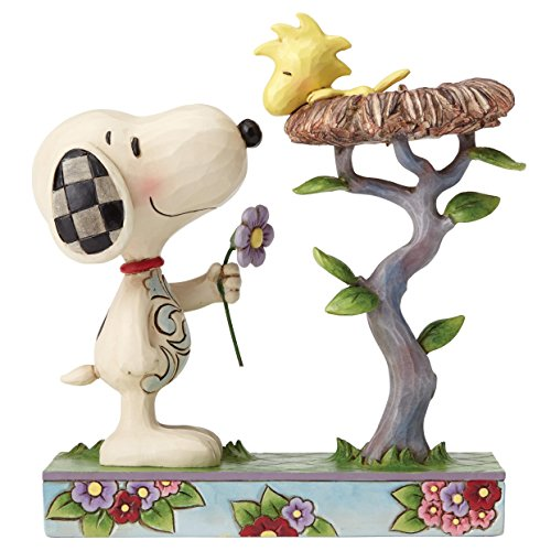 Enesco Peanuts by Jim Shore Snoopy with Woodstock in Nest Figurine, 6.75