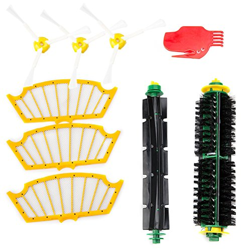 ccessories Kit for Roomba 500 Series 510 530 535 540 550 560 570 580 - Includes 3 Pack Filter and Side Brush, 1 Pack Bristle Brush and Flexible Beater Brush, 1 Pack Cleaning Tool (580 Series)