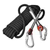 Yitongxing Rock Climbing Rope, Outdoor Hiking Accessory High Strength Cord Surviving Rope Safety Rope-10M(32ft),20M(66ft),30M(98ft),50M(164ft) &100M(329ft) (Black,12mm,40m(132ft))