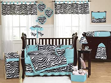 Amazon.com : Baby and Kids Turquoise Funky Zebra Clothes Laundry ...