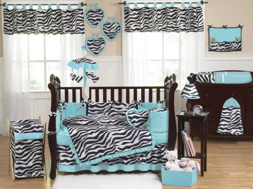Sweet Jojo Designs Turquoise Funky Zebra Fabric Memory/Memo Photo Bulletin Board