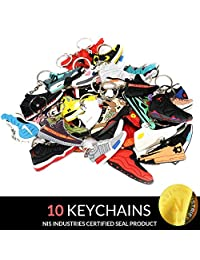 NIS Industries Mini Sneaker Keychains - Rare Air Packs - Rubber/Silicone 2D Retro Sneakers Basketball Shoe Keychains - Perfect Sneakerhead Gift Idea