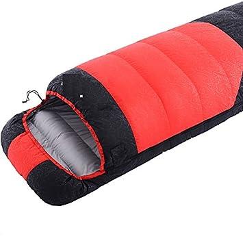 WUTONG Pluma de Saco de Dormir Adulto al Aire Libre Solo Invierno Engrosamiento Pato Abajo cálido Interior portátil Saco de Dormir de Camping: Amazon.es: ...