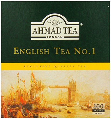 Ahmad Tea English Tea No.1, 100 Tagged Teabags, (Pack of 6)