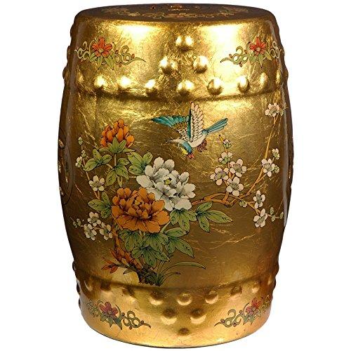 Oriental Möbel Top Qualität Japanische Chinesische Oriental asiatischen Stil Home Decor 18Ming Keramik Porzellan Garten Hocker, Blattgold