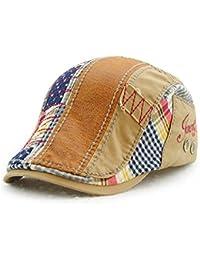 buy online c8240 411c2 Men Beret Hat Cotton Buckle Adjustable Newsboy Hats Cabbie Gatsby Cap