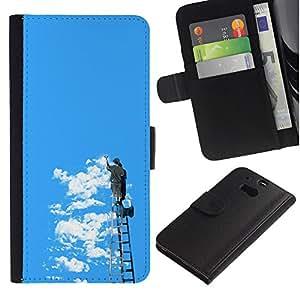 NEECELL GIFT forCITY // Billetera de cuero Caso Cubierta de protección Carcasa / Leather Wallet Case for HTC One M8 // Graffiti