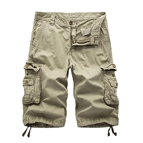 Men's Pants, Limsea Pure Color Outdoors Pocket Beach Work Trouser Cargo Shorts ()