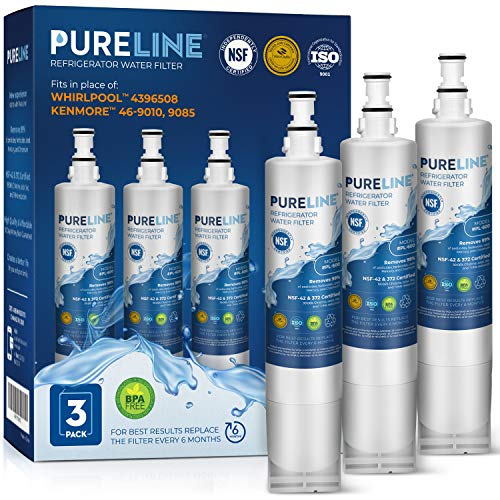 Kenmore 9085 and 46-9010 Water Filter Replacement. Compatible Filter for Kenmore 9085, 9010 and Whirlpool 4396508, 4396510, NLC240V, Everydrop Filter 5. -PURELINE (3 Pack) (Pur Filter 4396710)