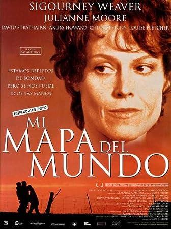 Diseño de mapa del mundo A Póster de película español 11 x ...