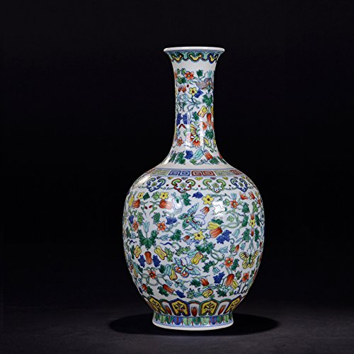Chinese Porcelain Vase Flower Home Office Decor Hand Made and Hand Painted Porcelain ( Height: 14 inches ) by All Décor (Image #5)