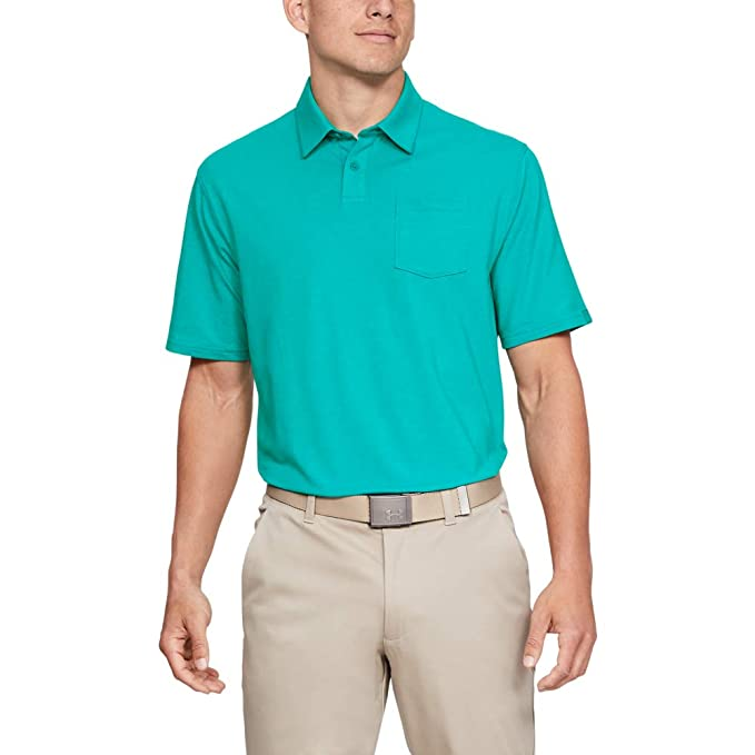 Under Armour (UNDKU) CC Scramble Camisa Polo, Hombre, Verde, XXL ...