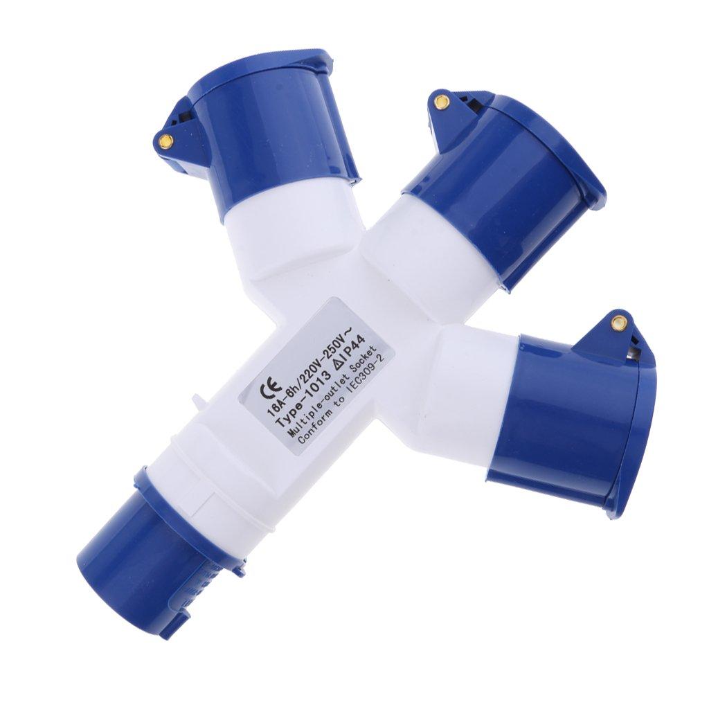 3pin-ip44 2p e non-brand Sharplace Enchufes Rango de Enchufe Industrial azul 240v 16A Impermeable a prueba de polvo y Humedad Accesorios