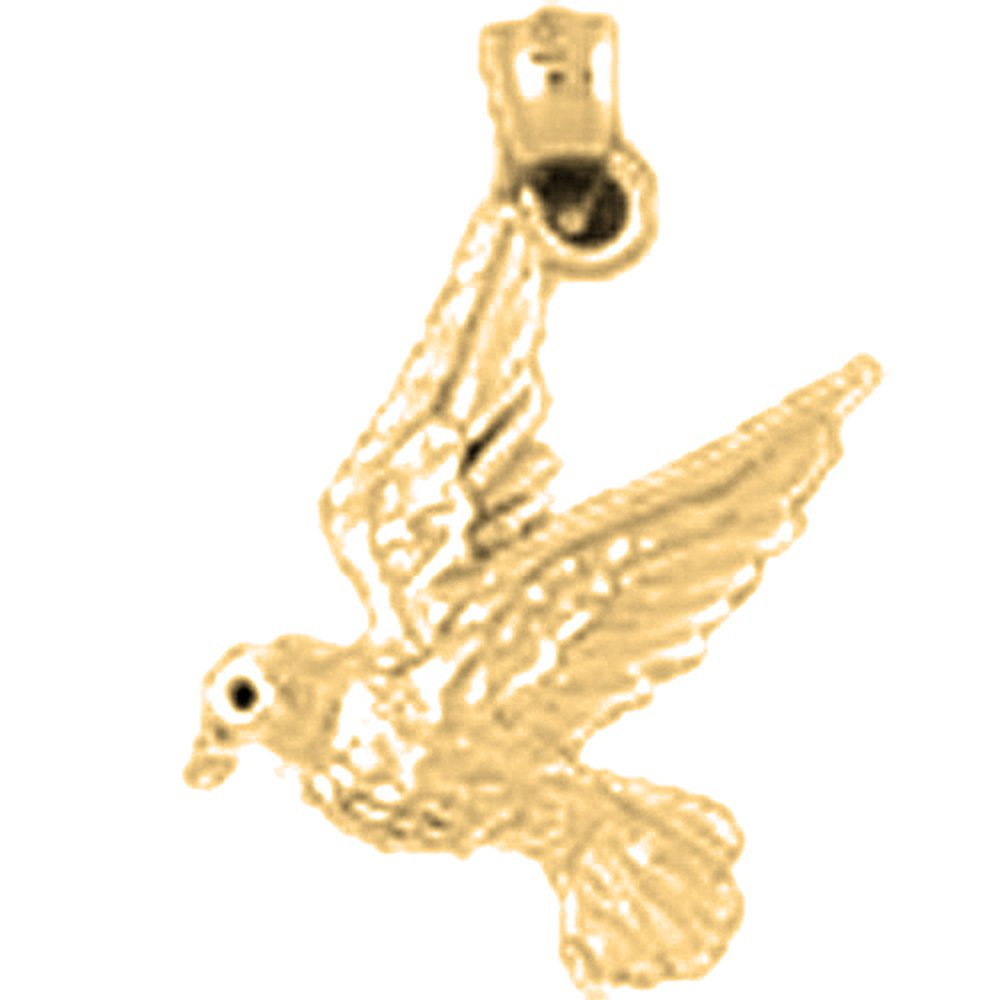 14K Yellow Gold-plated 925 Silver14K Yellow Gold-plated 925 Silveringbird Pendant with 18 Necklace Jewels Obsession Bird Necklace