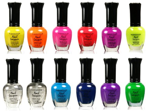 Nail Polish - Awesome Neon Full Size Lacquer Lot of 12-pc