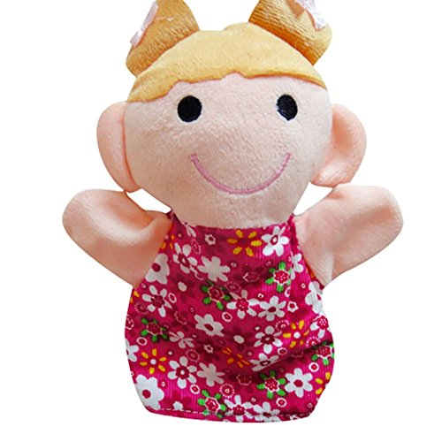 [AMA(TM) 18CM Baby Kids Home Family Members Finger Puppets Infant Kid Toy Plush Toys Educational Toy Christmas Gifts] (Princess Riding Unicorn Dog Costume)