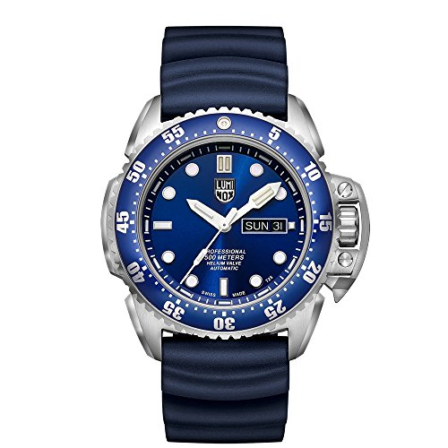 Luminox Men's 'SEA' Swiss Automatic Stainless Steel and Rubber Casual Watch, Color:Blue (Model: 1523)