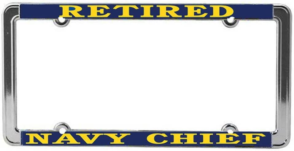 Honor Country US Navy Chief Retired License Plate Frame