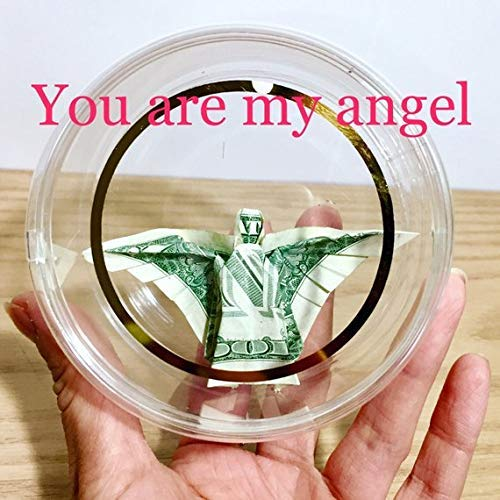 Money origami angel Christmas ornament Stocking Stuffer novelty token Gift