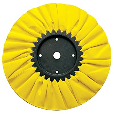 """United Pacific 90030 10"""" Yellow Treated Airway Buff - 5/8"""" & 1/2"""" Arbor, 1 Pack: Automotive"""