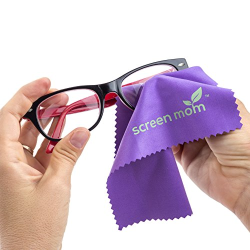Screen Mom Screen Cleaner Kit - Best for Laptop, Phone Cleaner, iPad, Eyeglass, LED, LCD, TV -Includes 2oz Spray and 2 Purple Cleaning Cloths -Great for Travel,Smartphone,Touchscreen,Kindle,3D Glasses by Screen Mom (Image #4)