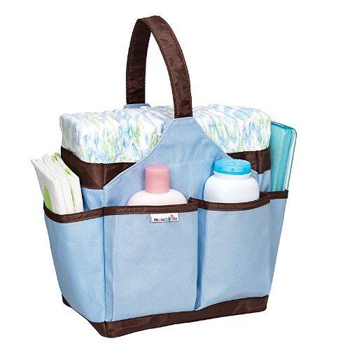 Munchkin Portable Diaper Caddy-Aqua agua