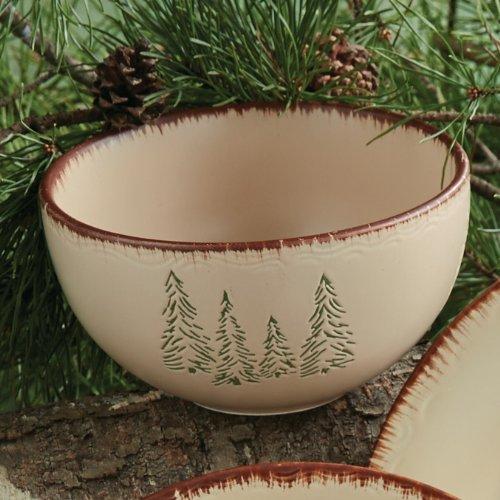 BLACK FOREST DECOR Bear & Moose Stoneware Cereal Bowl