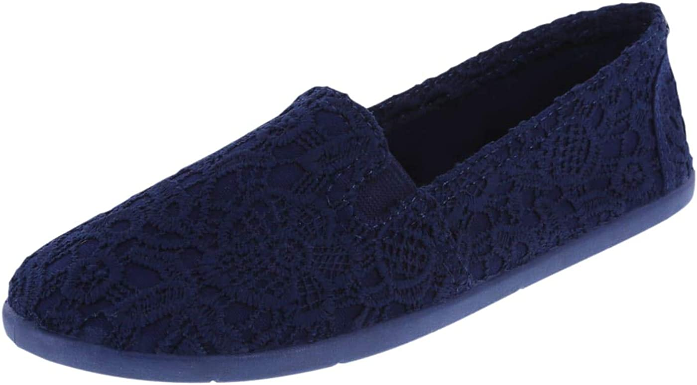 NEW Kids Girls Floral Lace Up Canvas Flat Rubber Sole Tennis Shoes Blue Navy