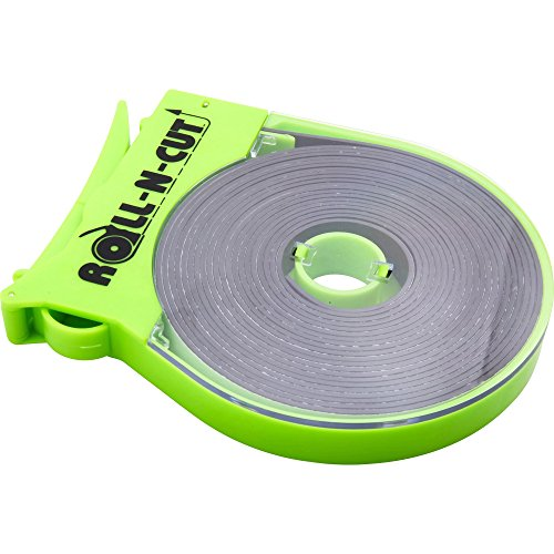 (Baumgartens Products - Magnetic Tape, w/Dispenser, 1/2amp;quot;x15', Black Tape/Green Disp. - Sold as 1 EA - Magnetic tape comes in a dispenser that makes mounting with magnetic tape easy. Simply roll out the desired length and press the lever for a clean cut. You do not need scissors. Magnetic tape is designed for attaching nonmagnetic objects to lockers, cabinets, door frames, fridges, shelving and other metal surfaces. Tape sticks to photographs, pictures, calendars, displays and more. )