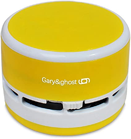 Gary & ghost Mini Aspirador Sweeper de mesa de mano Aspire – Recogemigas limpiador portátil mesa para limpieza polvo teclado Regalo Amarillo: Amazon.es: Hogar