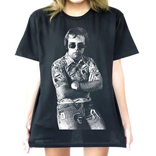 Modman Men's Elton John vintage Style T-Shirt Small - John Elton Style