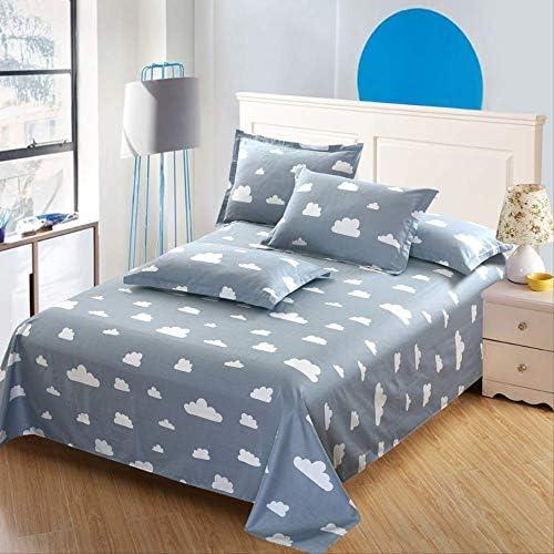 XSHIYQ 100% Coton Stripe Bed Flat Sheet Set Gift Adult Queen King Twin Full Size 3pcs Sheet Set Pillowcase Bedding 230x250cm Colour12