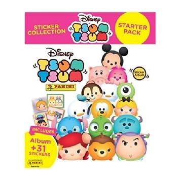 Disney Panini Peluche Tsum Tsum – Colección de Pegatinas Starter Pack – Álbum y 31 Pegatinas