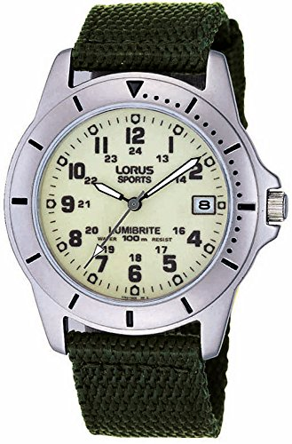 Lorus Gents Canvas Strap Watch RXH005L9