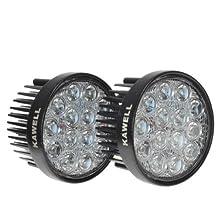 KAWELL® 42W Off Road LED Work Light Spot Beam Light Round 12V 24V Off Road 4x4 Quad Atv Lighting (2 Pack)