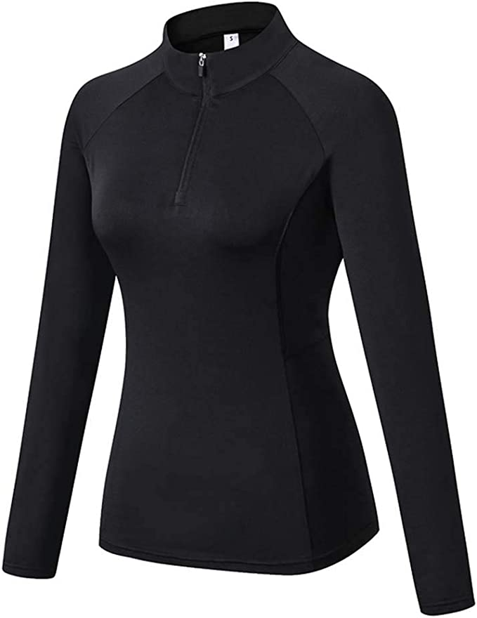 slimour Women Long Sleeve Running Shirts with Thumb Holes Track Jackets Yoga Tops Performance