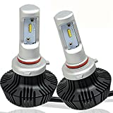 Turbo SII 7th HB3 Led Headlight Bulb Conversion Kit - 9005 80W 8000Lm 6500K Cool White Led Car Headlight Bulbs 12V Replace for Halogen & HID Bulbs