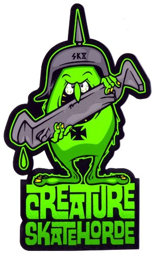 Creature skateboards skateboard sticker skatehorde skate board sticker