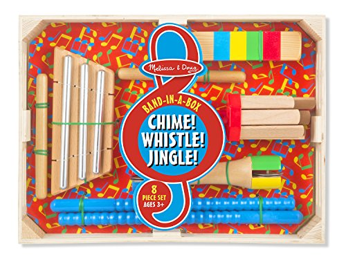 Melissa and Doug Band-in-a-Box Chime! Whistle! Jingle! Set -