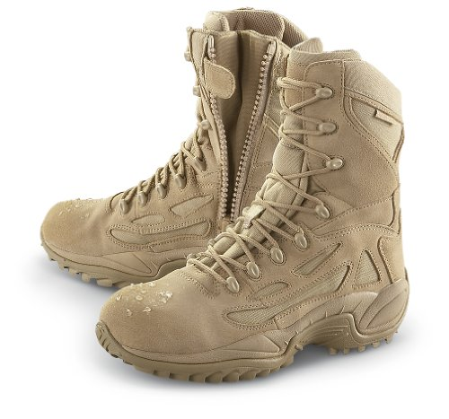 Men's Converse Waterproof Side - zip Desert Tactical Boots Desert Tan - stylishcombatboots.com