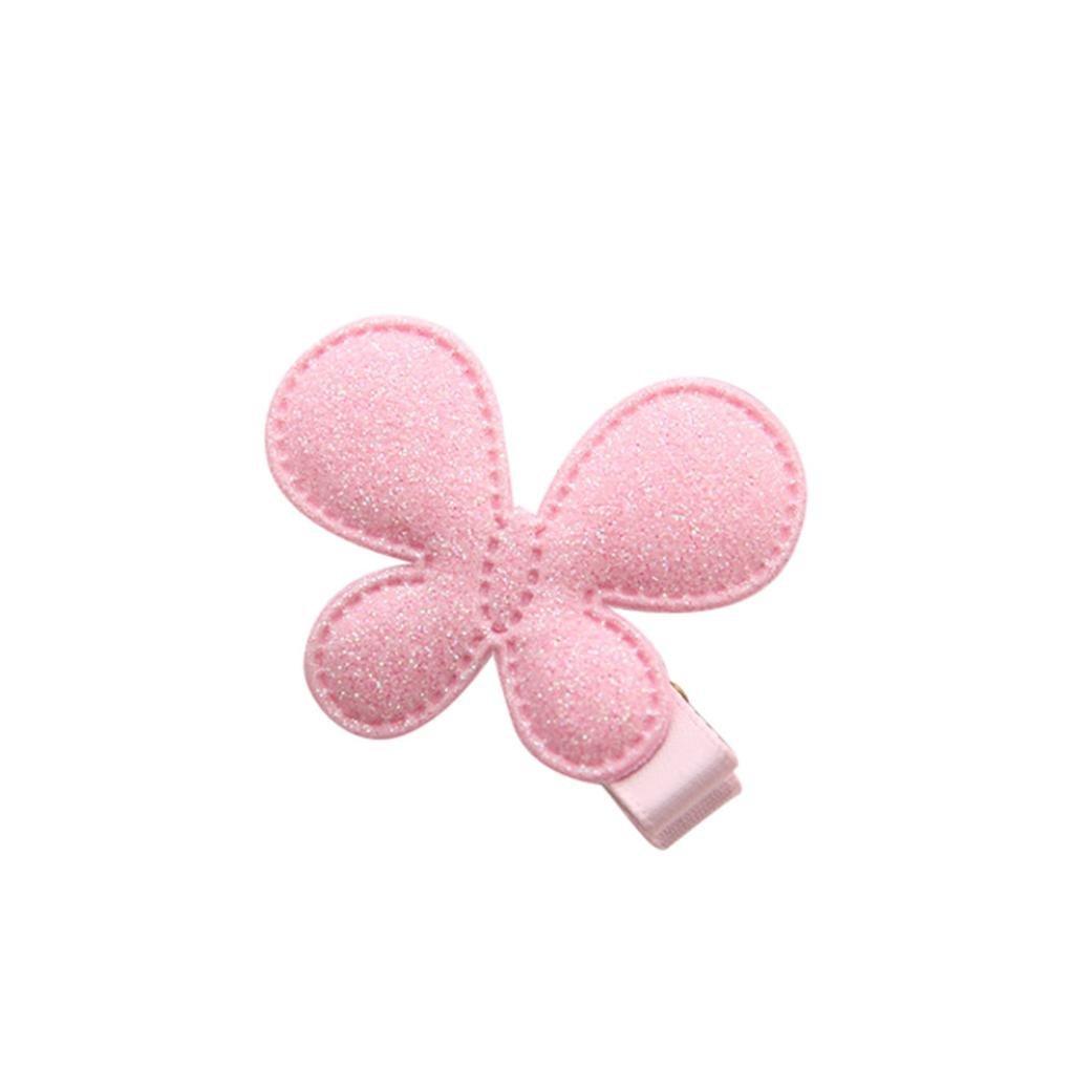 bobo4818 Baby Kinder M/ädchen Kinder Shiny Princess Pailletten Sterne Herz Schmetterling Haarspange F