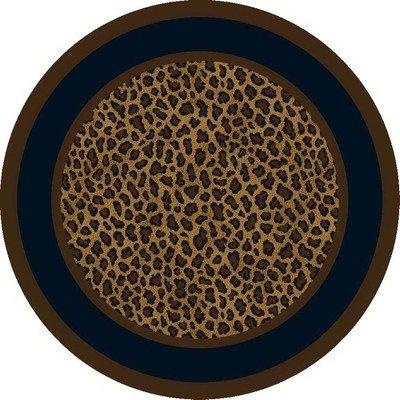 Milliken Innovation Zimbala Leopard Print Rug Rug Size: Round 7'7