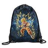 Render Dragon Ball Z Goku Drawstring Backpack Bag White